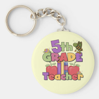 Bugs and Apples 5th Grade Teacher Keychains