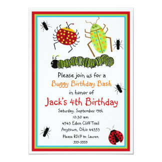 Bugs  Birthday Invitations