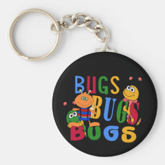 Bugs Bugs Bugs Tshirts and Gifts Basic Round Button Key Ring