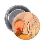 BUGS BUNNY™ and ELMER FUDD™ 2 6 Cm Round Badge