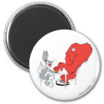 BUGS BUNNY™ and Gossamer 2 6 Cm Round Magnet