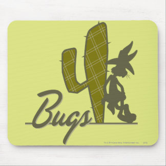 BUGS BUNNY™ Cowboy Leaning on Cactus Mouse Pad