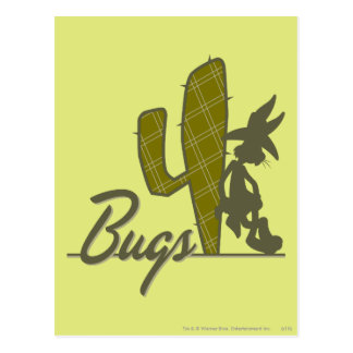 BUGS BUNNY™ Cowboy Leaning on Cactus Postcard
