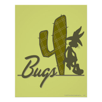 BUGS BUNNY™ Cowboy Leaning on Cactus Poster