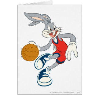BUGS BUNNY™ Dribbling Through The Competition Greeting Card