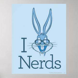 Bugs Bunny - I (Bugs) Nerds Print