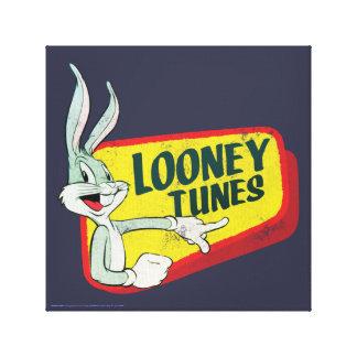 BUGS BUNNY™ LOONEY TUNES™ Retro Patch Canvas Print