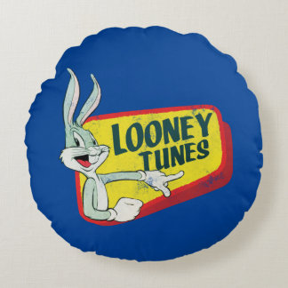 BUGS BUNNY™ LOONEY TUNES™ Retro Patch Round Cushion