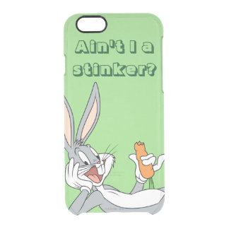 BUGS BUNNY™ Lying Down Eating Carrot Clear iPhone 6/6S Case