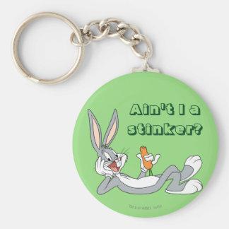BUGS BUNNY™ Lying Down Eating Carrot Key Ring