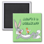 BUGS BUNNY™ Lying Down Eating Carrot Square Magnet