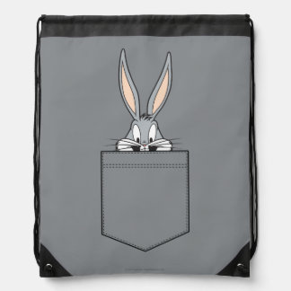 BUGS BUNNY™ Peeking Out Of Pocket Drawstring Bag