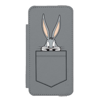 BUGS BUNNY™ Peeking Out Of Pocket Incipio Watson™ iPhone 5 Wallet Case