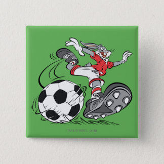 BUGS BUNNY™ Playing Soccer 15 Cm Square Badge