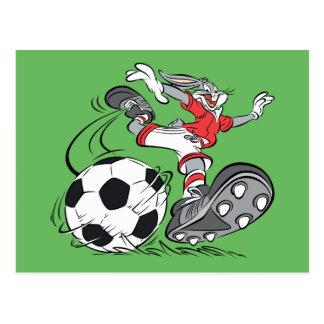 BUGS BUNNY™ Playing Soccer Postcard
