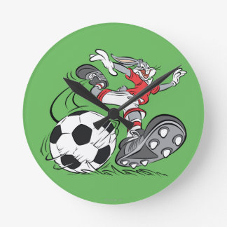 BUGS BUNNY™ Playing Soccer Round Clock