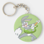 BUGS BUNNY™ Rocking On Guitar Basic Round Button Key Ring