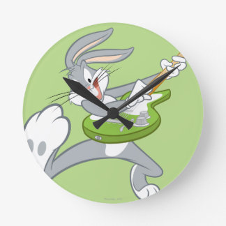 BUGS BUNNY™ Rocking On Guitar Round Clock