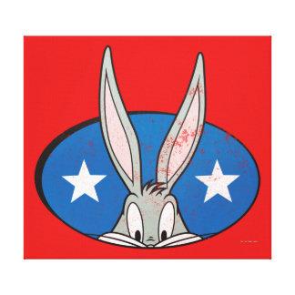 BUGS BUNNY™ Stars Badge Canvas Print