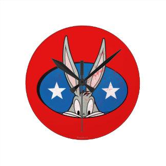 BUGS BUNNY™ Stars Badge Round Clock