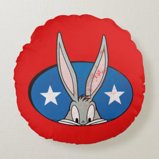 BUGS BUNNY™ Stars Badge Round Cushion