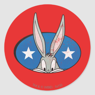 BUGS BUNNY™ Stars Badge Round Sticker