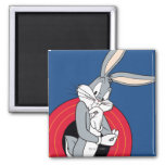 BUGS BUNNY™ Through LOONEY TUNES™ Rings Square Magnet