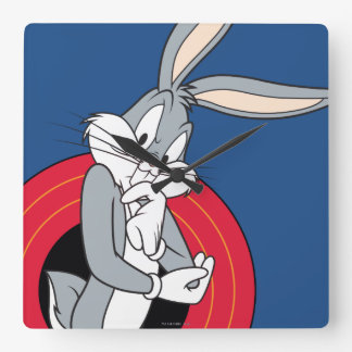 BUGS BUNNY™ Through LOONEY TUNES™ Rings Square Wall Clock
