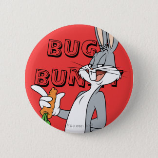 BUGS BUNNY™ With Carrot 6 Cm Round Badge