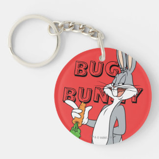 BUGS BUNNY™ With Carrot Double-Sided Round Acrylic Key Ring