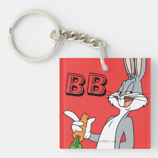 BUGS BUNNY™ With Carrot Double-Sided Square Acrylic Key Ring