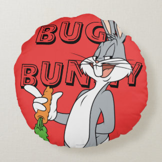 BUGS BUNNY™ With Carrot Round Cushion