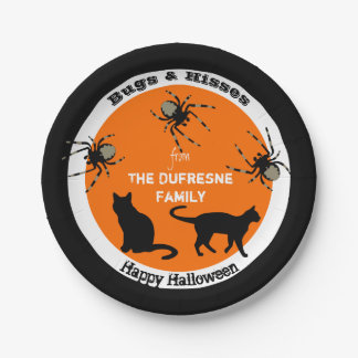 Bugs & Hisses Personalised Halloween 7 Inch Paper Plate