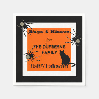 Bugs & Hisses Personalised Halloween Paper Napkin