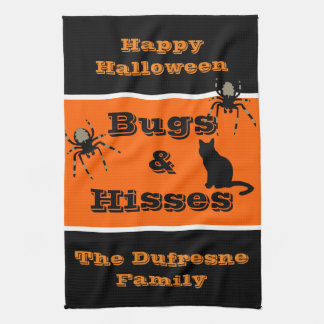 Bugs & Hisses Personalized Halloween Hand Towels
