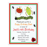 Bugs Insects Ladybugs Ants Birthday Invitations 13 Cm X 18 Cm Invitation Card