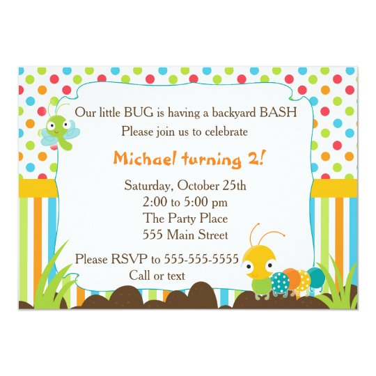 Bugs Invitation Kids Birthday Party