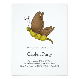 "Bugs 'n' Blooms · Brown Butterfly 4.25"" X 5.5"" Invitation Card"