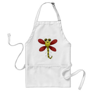 Bugs 'n' Blooms · Red & Green Dragonfly Standard Apron