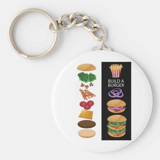Build A Burger Keychains