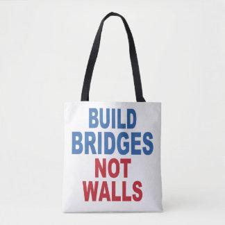 """""""Build Bridges Not Walls"""" bags"""
