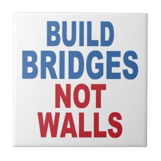 """""""Build Bridges Not Walls"""" ceramic tiles"""