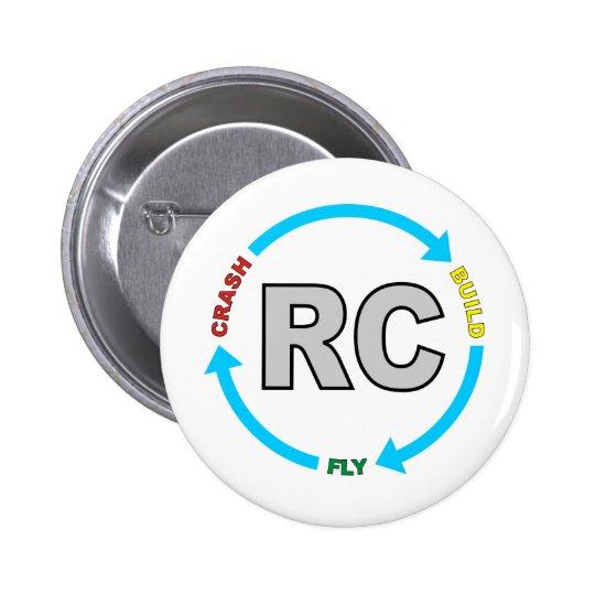 Build Crash Fly RC 6 Cm Round Badge