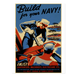 Build for your Navy Postcard