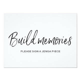"""Build memories"" Jenga Wedding Sign 