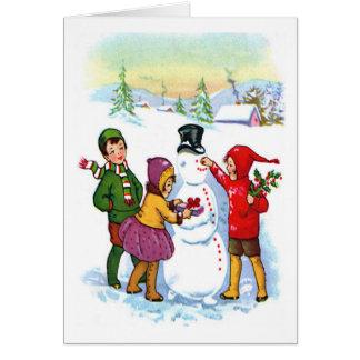 Build Snowman Greeting Card