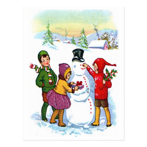 Build Snowman Post Card