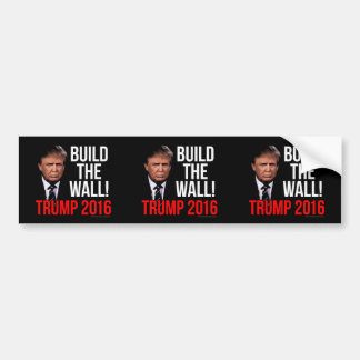 Build the Wall Donald Trump 2016 Bumper Sticker