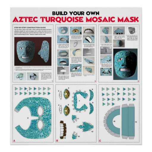 Build Your Own Aztec Mask Kit Poster