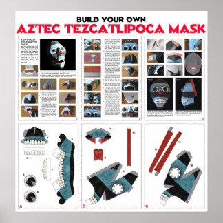 Build Your Own Aztec Tezcatipoca Mask KIt Poster